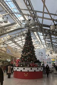 上野駅のツリー